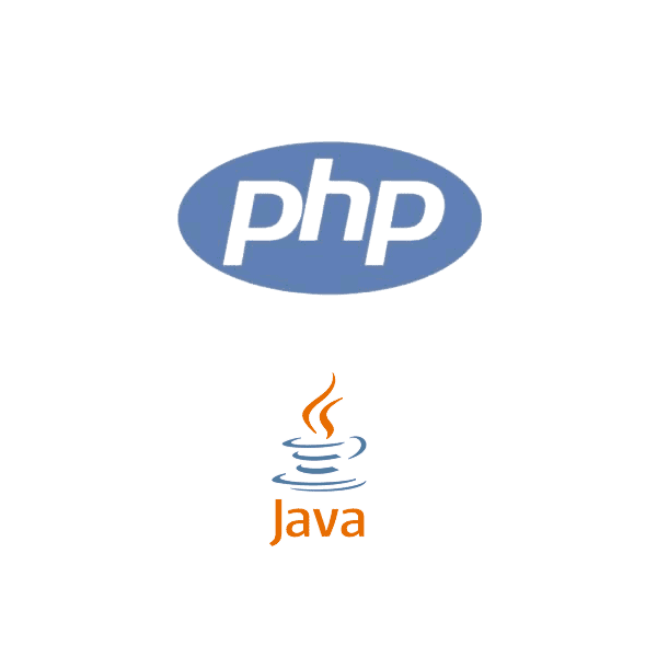 PHP, Java applications